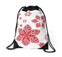 red flakes Drawstring Bag