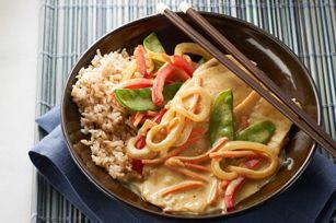 Poêlée de tilapia au cari thaïlandais