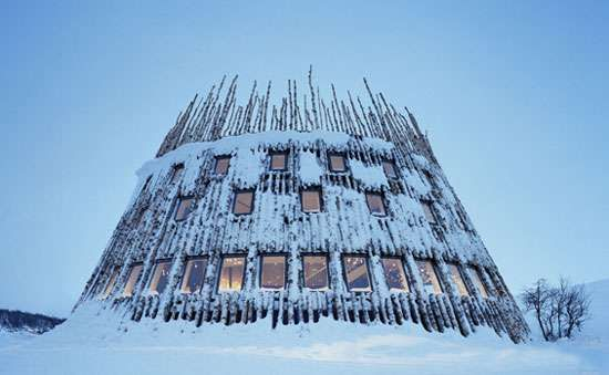 The Swedish Ski Resort is a Little Boy's Fantasy Playground #architecture trendhunter.com