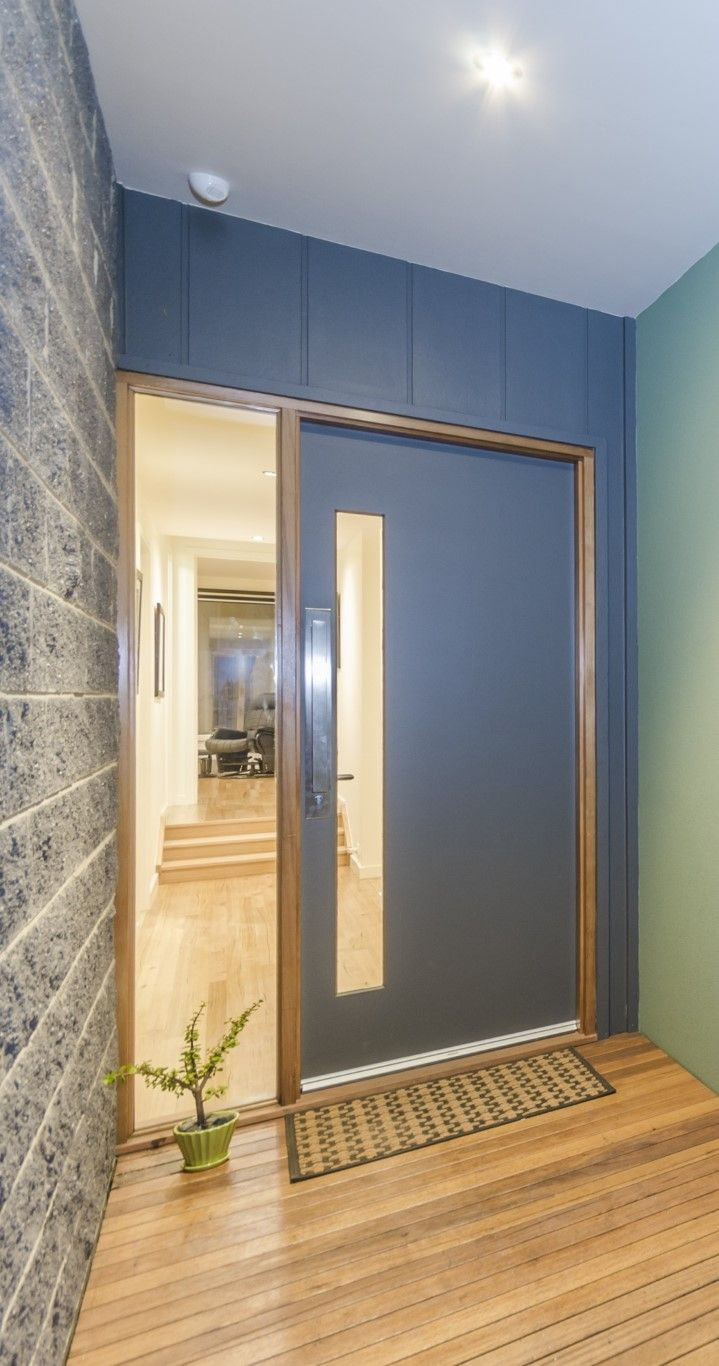 This family home warmly invites you in with this Corinthian Madison PMAD101 (2340mmx920mm) painted door with clearing glazing. | Pinterest | Painted doors ... & This family home warmly invites you in with this Corinthian ... pezcame.com