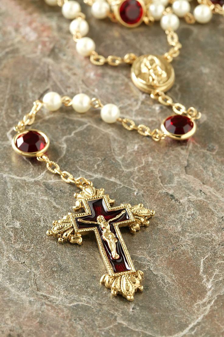 Siam Ruby Swarovski® Chanel Rosary – Celebrate Faith