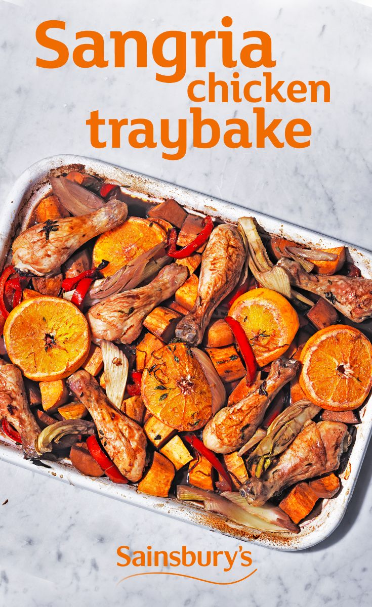 We've got three words for you. Sangria. Chicken. Traybake. That's basically a summer holiday on a plate.