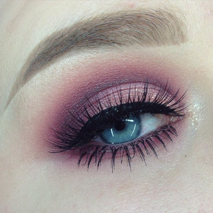 'Cranberry Cut Crease' look by Sarah Wilson using Makeup Geek's Bitten, Corrupt, Cinderella, Shimma Shimma, Simply Marlena and In the Spotlight eyeshadows and foiled eyeshadow.