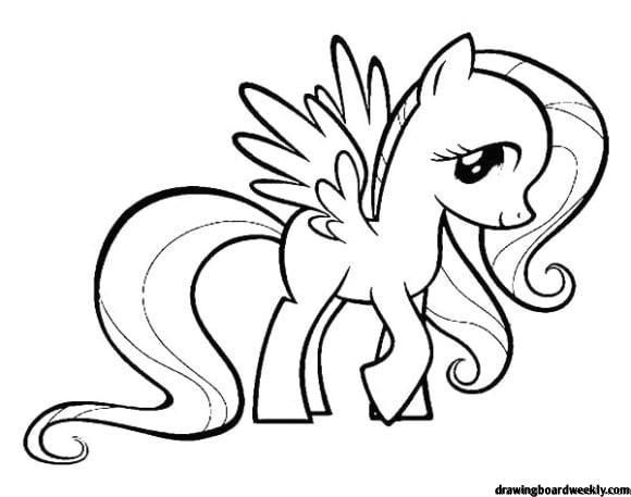 Fluttershy Coloring Page My Little Pony Coloring Coloring Pages Online Coloring Pages