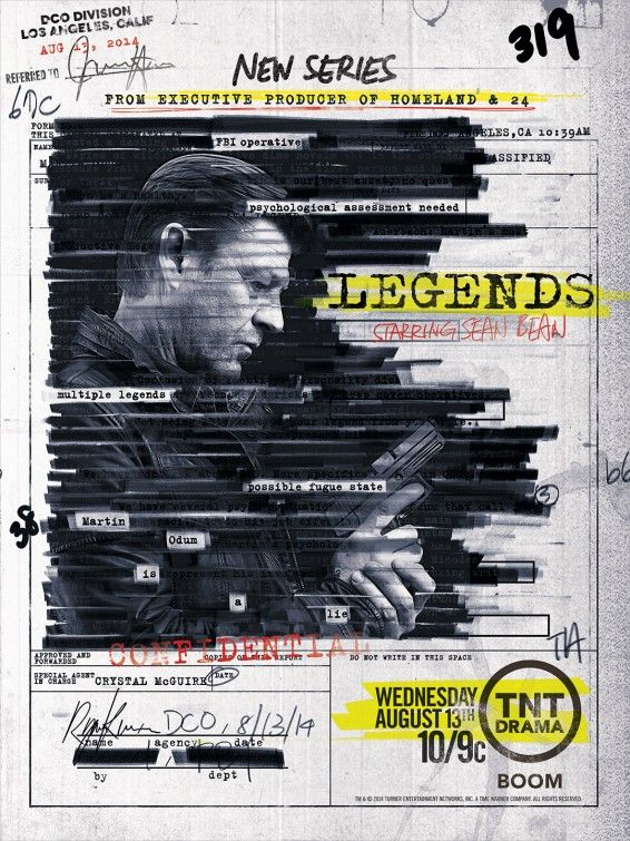 Posters for the new tv show Legends