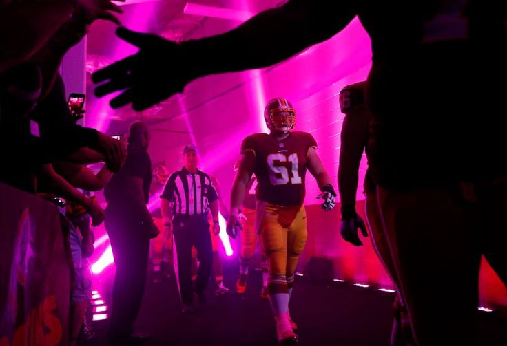 Eagles vs. Redskins:     October 16, 2016   -  27-20, Redskins  -     Washington Redskins center Spencer Long (61) walks though a tunnel to the field before an NFL football game against the Philadelphia Eagles, Sunday, Oct. 16, 2016, in Landover, Md.