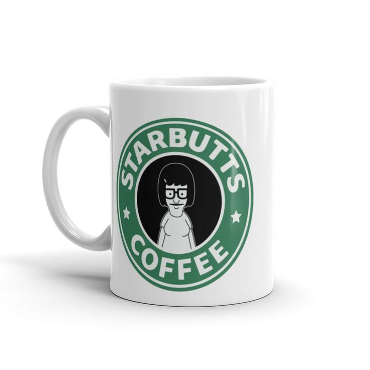 Funny Starbucks coffee mug featuring Tina from Bobs Burgers. Perfect funny gift for any coffee drinker or bobs burgers fan by DramaPatrol on Etsy