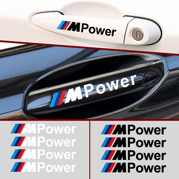 4X M Power Decals Stickers Car Auto Styling Vinyl Emblems for BMW M3 M5 M6 4pcs #Unbranded