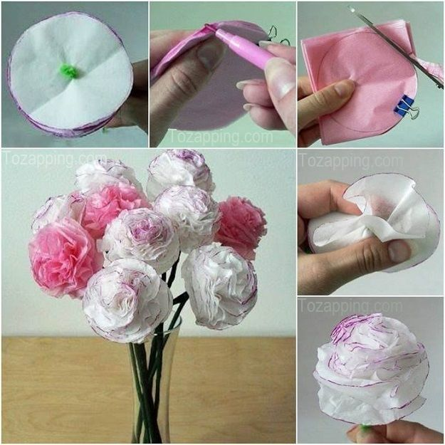 Cómo hacer claveles de papel de seda paso a paso. Una fantástica forma de hacer flores de papel para dar un toque floral a vuestra decoración, estas flores