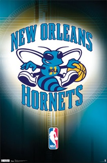 New Orleans Hornets Basketball Official NBA Team Logo Poster - Costacos Sports Inc.