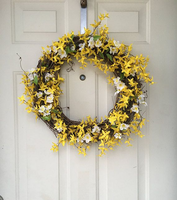 Handmade forsythia wreath made to order
