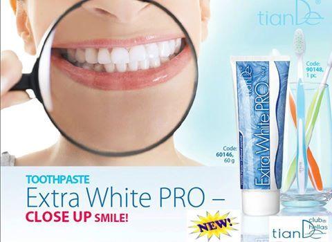 Φωτογραφία του χρήστη Tiande Club Hellas. ΟΔΟΝΤΟΚΡΕΜΑ EXTRA WHITE PRO Η tianDe προσφέρει την οδοντόκρεμα Extra White PRO, η βάση της οποίας είναι δυο σύγχρονα, ασφαλή και μαλακά λειαντικά, τα οποία έχουν σε υψηλό βαθμό, βιοσυμβατότητα με τον σμάλτο των δοντιών. Όταν χρησιμοποιείται σωστά, η οδοντόκρεμα έχει αποτέλεσμα ίδιο η και καλύτερο, με το αποτέλεσμα χρήσης των υπερήχων που κάνουμε μια φόρα τον χρόνο στον οδοντίατρο.
