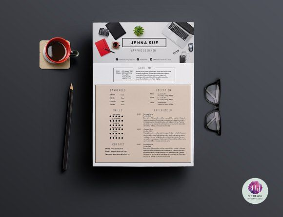 Modern Cv Template For Ms Word By This Paper Fox On Creative