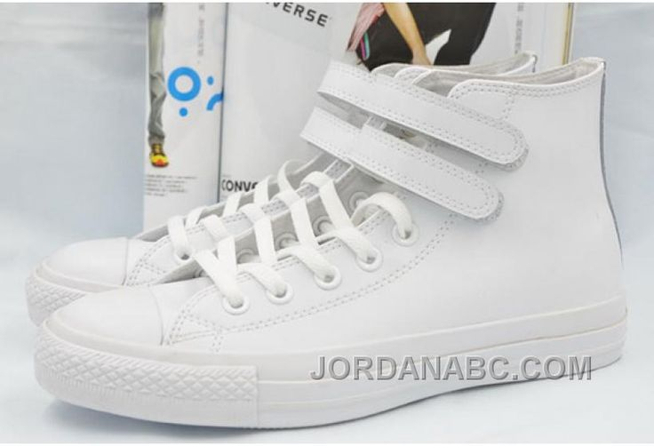 http://www.jordanabc.com/all-star-all-white-leather-converse-double-velcro-chuck-taylor-high-shoes.html ALL STAR ALL WHITE LEATHER CONVERSE DOUBLE VELCRO CHUCK TAYLOR HIGH SHOES Only $59.00 , Free Shipping!