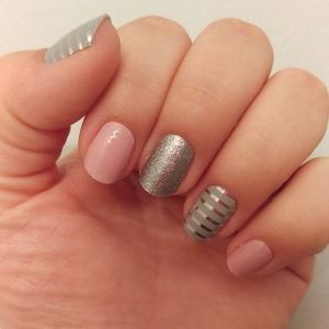 Gray & Silver Stripe, Daydream, and Diamond Dust Sparkle Jamberry wraps
