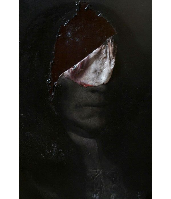 i can see your insides. painting by nicola samori.