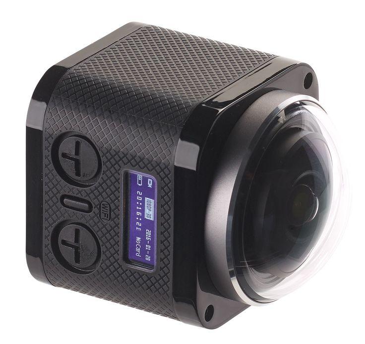 Cette caméra sport Somikon DV-4036.wifi est plus qu'étonnante puisqu'en plus d'être étanche sans boîtier et posséder une définition 4K UHD, elle filme à 360° !