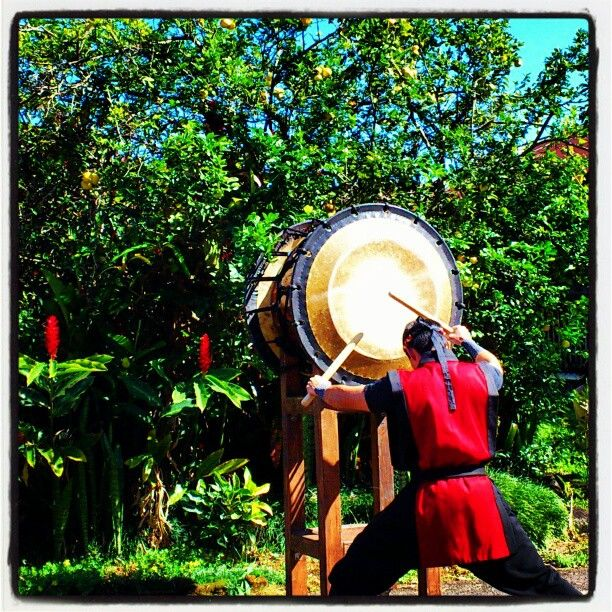 Such powerful #Energy. Exceptional #Japanese Taiko drummers at New Years festival in #Hawaii