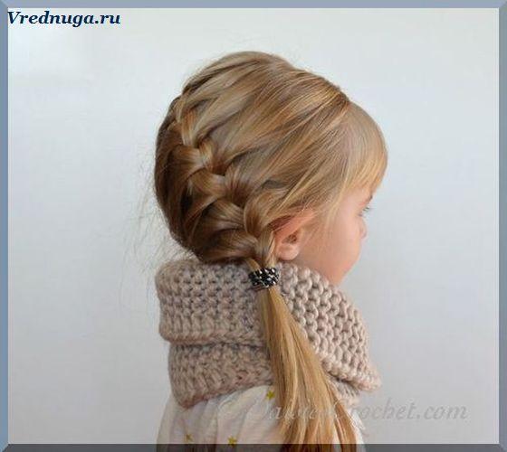 Маленькая модница. #little #girl #hairstyle Колоски и косы - прически для девочек