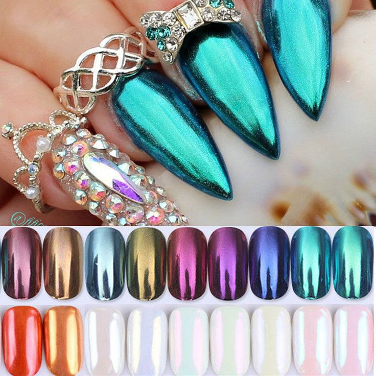 Nail Mirror Powder Glitter Dust Nail Art Manicure Chrome Pigment DIY Born Pretty #BornPretty