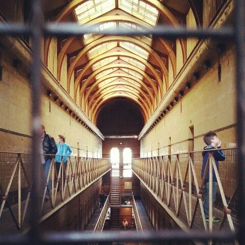 Melbourne old prison center. The story of Ned Kelly can be found here :)