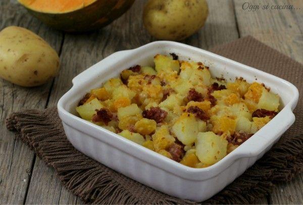 tortino di patate zucca e salsiccia