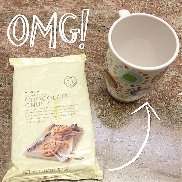 Hot & gooey cookie in a mug