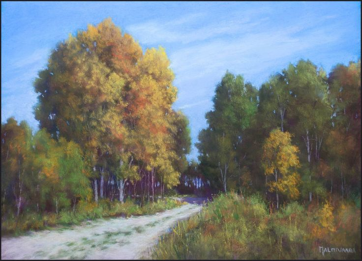 Season Is Changing by Olli Malmivaara, soft pastel painting on sanded paper 30 x 40 cm