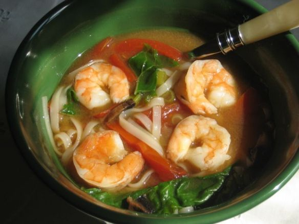 Quick Prawn and Miso Soup Recipe