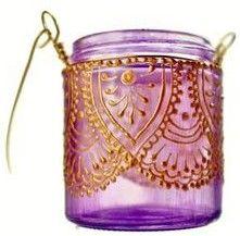 purple candle glass