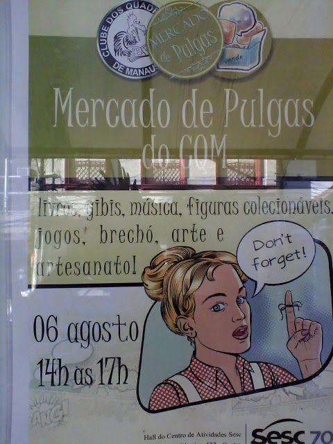 Registros fotográficos do Mercado de Pulgas do CQM realizado em 06/08/2016 pelo Clube dos Quadrinheiros de Manaus em parceria com o SESC-AM.