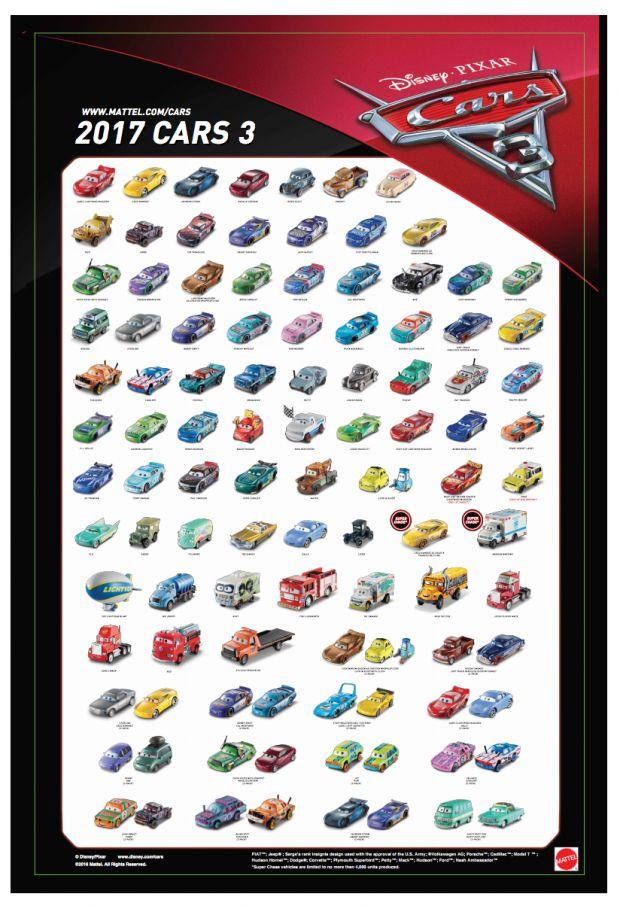 Mattel Disney Pixar CARS 3: Poster-ized! | Take Five a Day