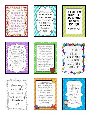 9 inspirational scripture verses for your ID badge  FREEBIE!