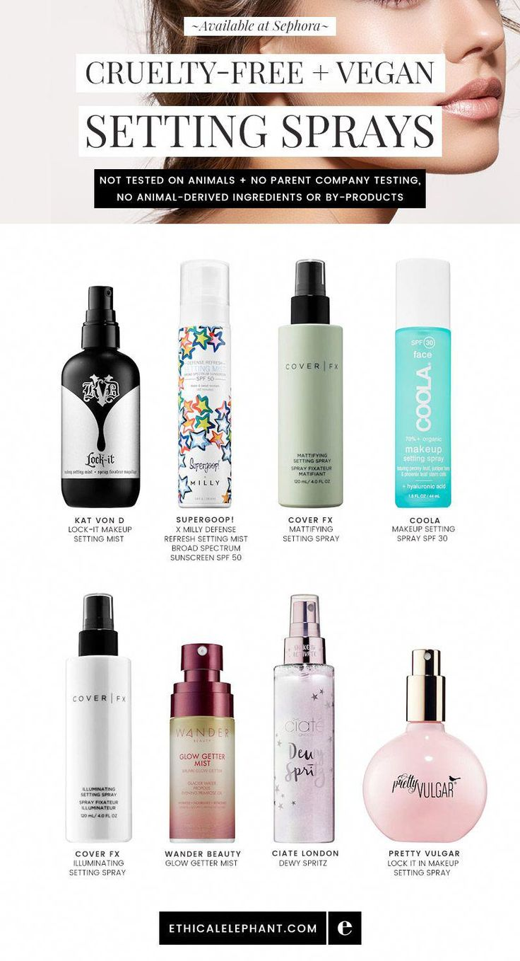 CrueltyFree & Vegan Setting Sprays Available at Sephora