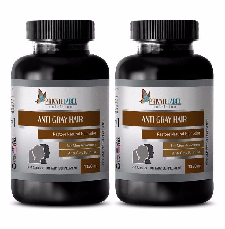 Stimulates Hair Growth - Anti Gray Hair 1350Mg  Supplements To Stop Grey Hair 2B