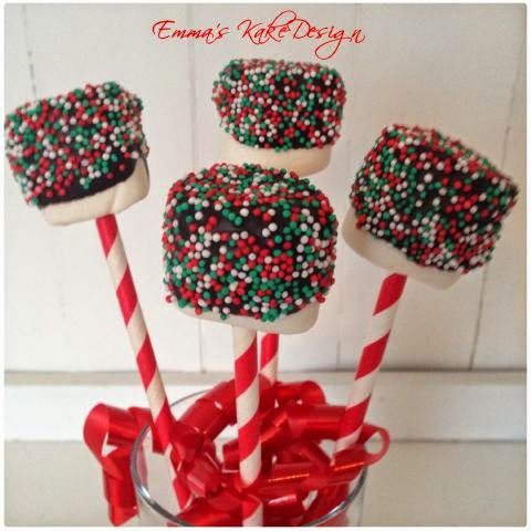 Emmas KakeDesign: Marshmallow pops! DIY on the blog www.emmaskakedesign.blogspot.com
