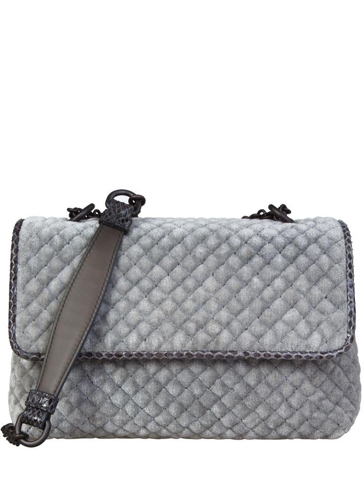 Вельветовая сумка BABY OLIMPIA от Bottega Veneta
