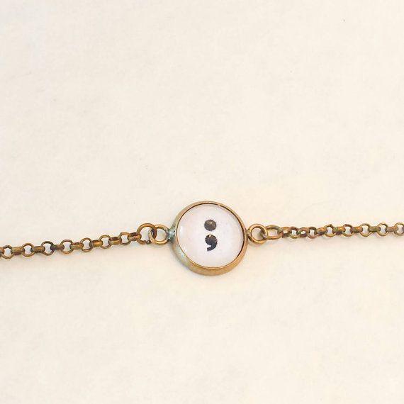 Semicolon bracelet suicide prevention self by TheUrbanDisciple