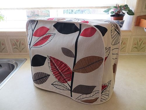 Kenwood Chef Cover Autumn Leaves Cotton. Handmade.