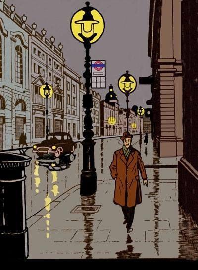 Blake et Mortimer - La Marque Jaune, EP Jacobs 1956 http://danismm.tumblr.com/post/110391194874/blake-et-mortimer-la-marque-jaune-ep-jacobs