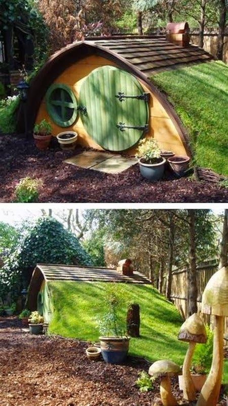 A Real Life Hobbit Hole - This would be a great entrance to the wine cellar!!!!!  I have found exactly what I want now.