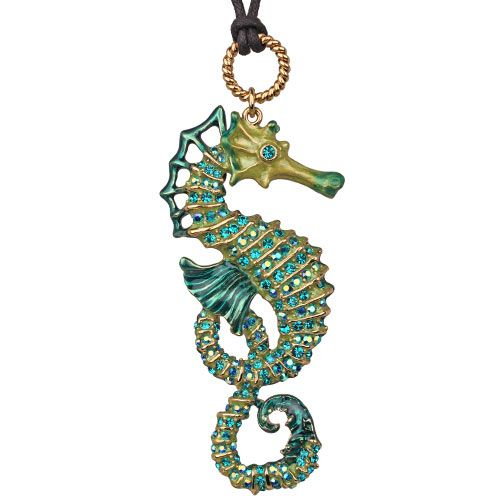 Rip Tide's Ride Seahorse Necklace: Kirks Folly Online Web Store
