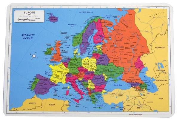 Painless Learning Europe Placemat Classical
