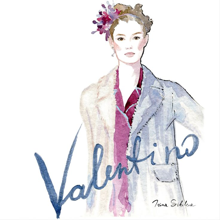 Valentino  /  Fashion illustration, by Irina Sibileva