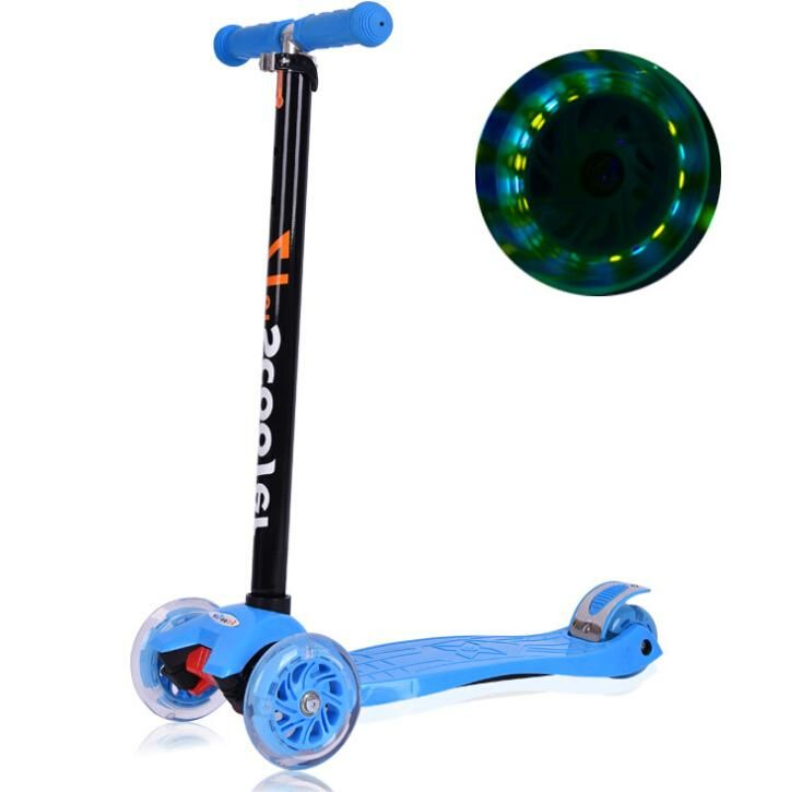 Kick Scooters Pedal Scooter Adjustable Flashing 3 Wheels Foot Scooters Mini Stunt Foot Scooter Kids Roller Skates From Archerslove, $89.43 | Dhgate.Com