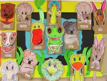 FREE on TpT. This introductory sampler includes simple instructions for making a Koala paper bag puppet using black-line master templates. Each animal character...
