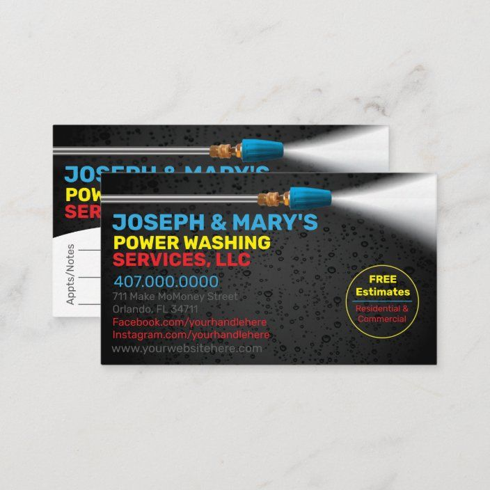 Pressure Washing Cleaning Business Card Template Zazzle Com Cleaning Business Cards Cleaning Business Pressure Washing