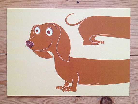 VENTA de impresión de perro salchicha!