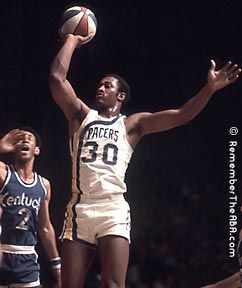George McGinnis of the Indiana Pacers