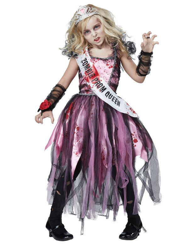 Check out Girls Zombie Prom Queen Costume - Zombies Girls Costumes from Wholesale Halloween Costumes